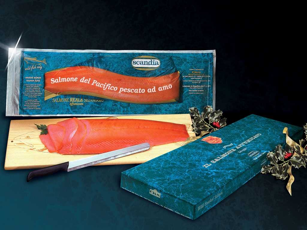 Salmone Argentato Selvaggio - Banda Intera Small/Super + Coltello
